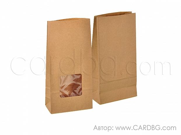 Хартиен плик с прозорец и дъно 12х25х6 см 25 броя код 31-72