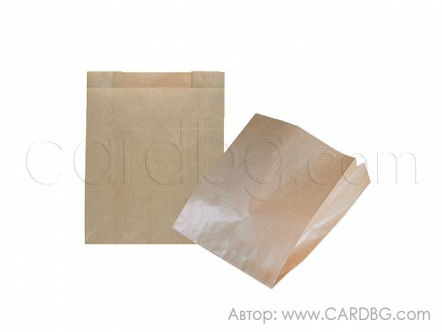 Хартиен плик с плоско дъно кафяв крафт 20х20 см, 50 бр код 31-12
