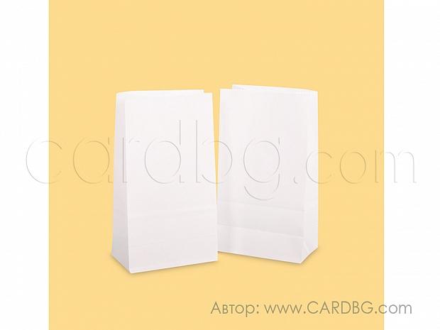 Хартиен плик с дъно р-р 9х16х5 см бял 50 бр в пакет код 31-71