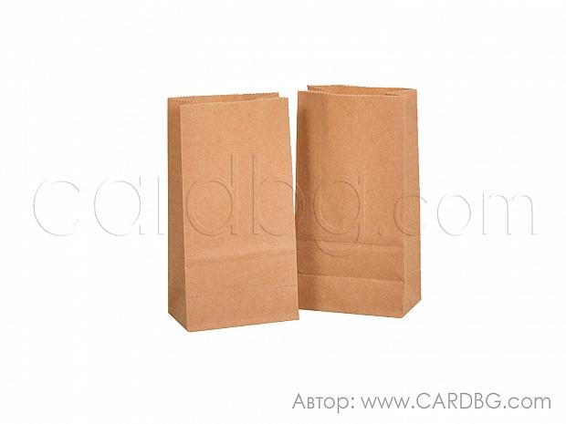 Хартиен плик с дъно р-р 9х16х5 см кафяв крафт, 50 бр код 31-70