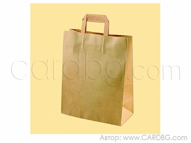 Хартиена чанта за храни, продукти, 33х28х12 см, 10 бр код 34-551