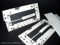 Стилни покани, бяло и черно №32704