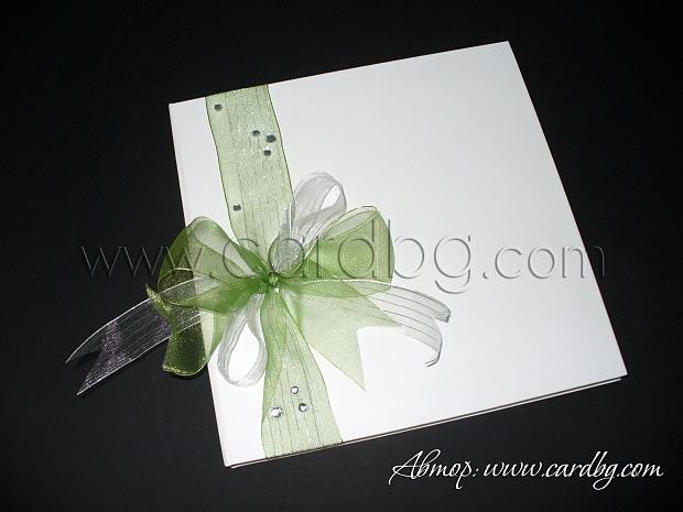 Сватбена книга в зелено, резида