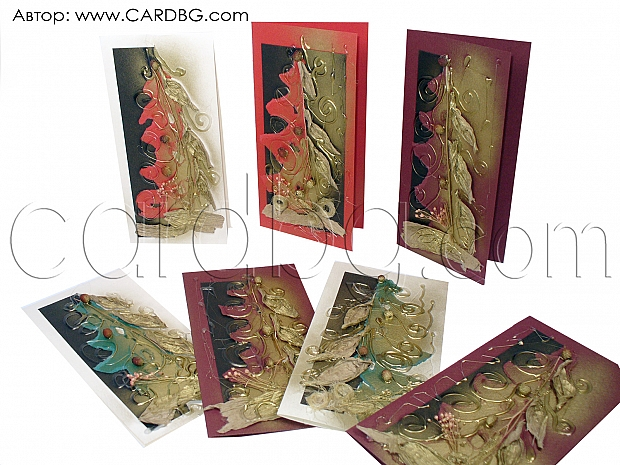 Коледна картичка елха