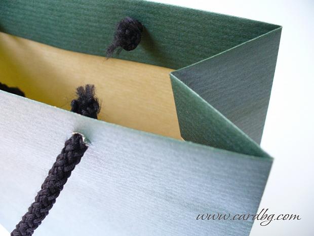 Торбички за бутилка цветове микс хартия крафт, код: 69