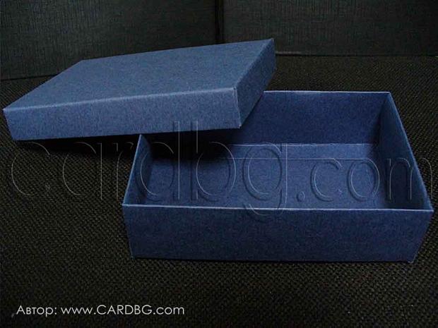 Правоъгълна кутия с отделен капак бяла 14х9х4 см - 25 броя