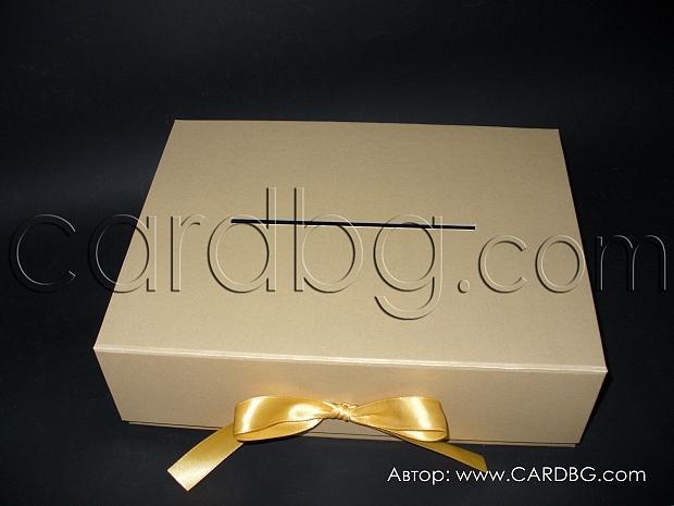 Луксозна голяма кутия за пари с панделка