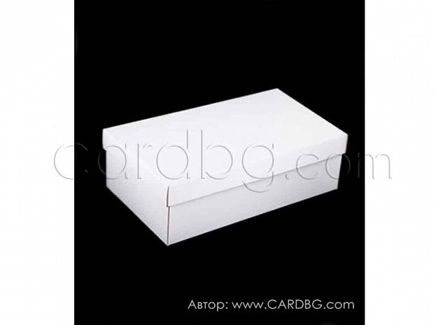 Кутия с подвижен капак бяла, сглобяема 30х19х10 см
