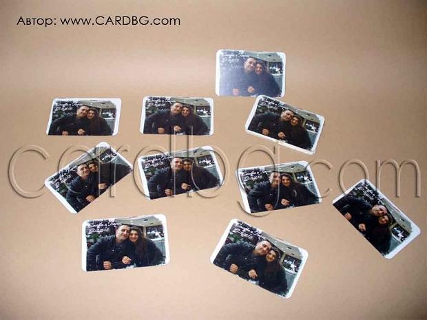 Магнити със снимка на младоженците размер 6 х 9 см
