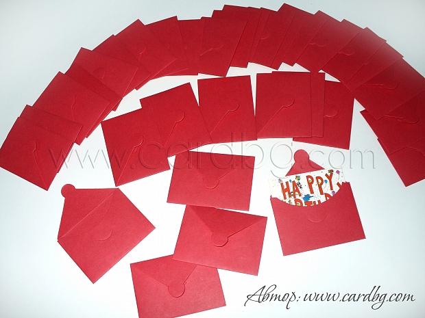 Мини пликчета цвят: червен
