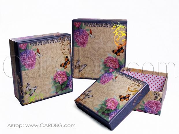 Картонени кутии здрави и елегантни комплект 3 броя GM05