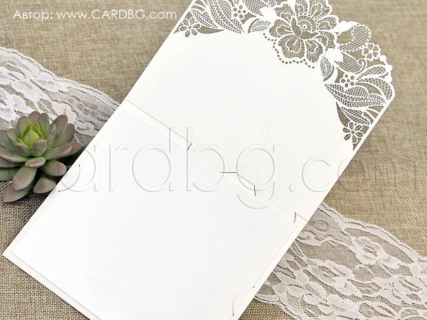 Луксозна картичка лазерно изрязана № 39624