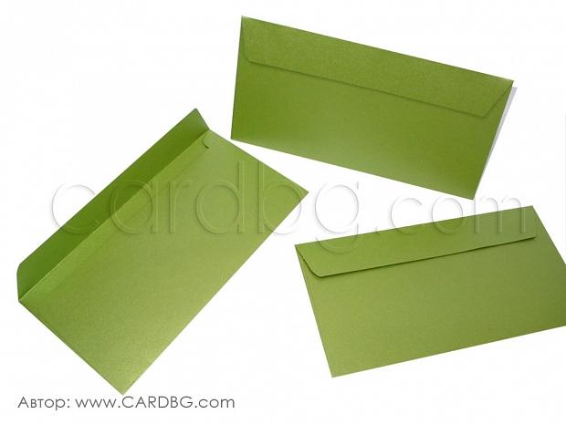 Перлен плик размер DL зелен без лепило