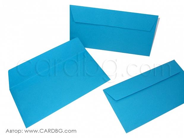 Пощенски плик американски формат син 25 броя в пакет