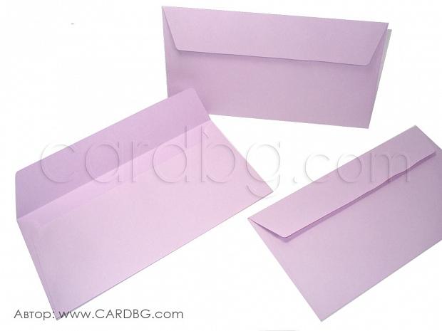 Плик американски формат светло лилав с капак без лепило