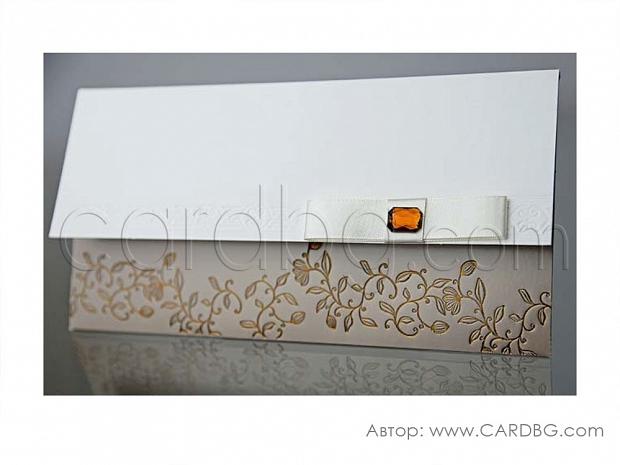 Луксозна картичка със стъклено мънисто № 34941