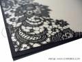 Стилна покана в цвят праскова и черни елементи