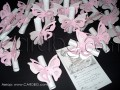Свитък пеперуда в бяло и розово с циркони