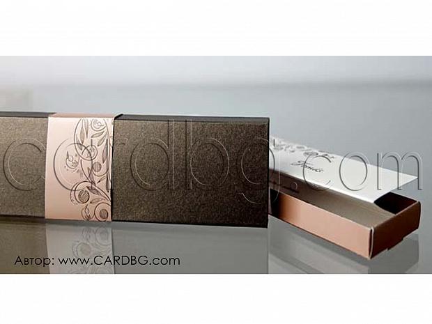 Универсална покана тип хармоника в кутия за юбилей, парти № 34939