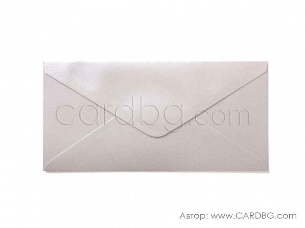 Плик бяла перла с лепило 21,5х11,5 см