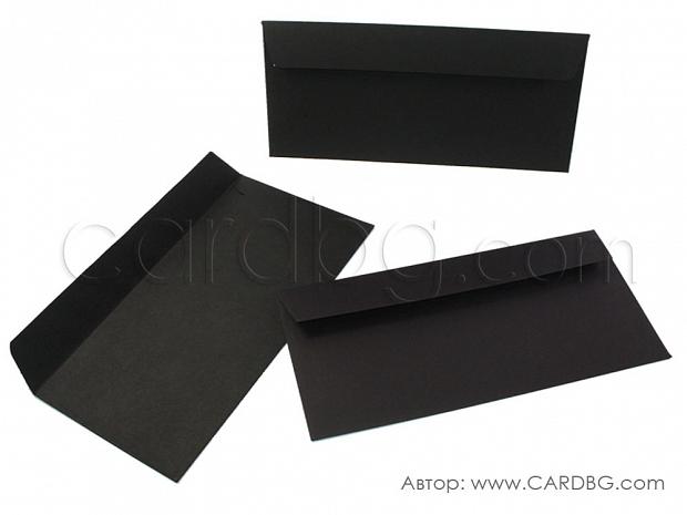 Плик за писма, пощенски черен 22х11 см без лепило