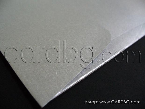 Квадратен пощенски плик от сребърна перла