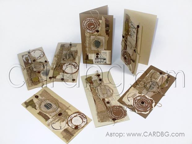 Ръчно изработени картички от естествени материали