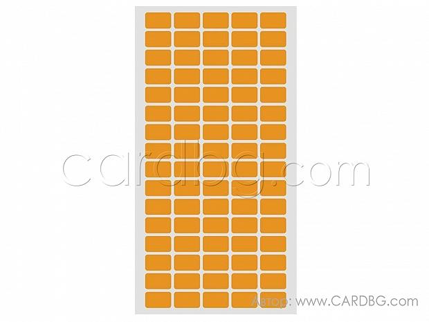 Лепящи стикери 12 х 22 мм на лист от 80 бр оранжеви