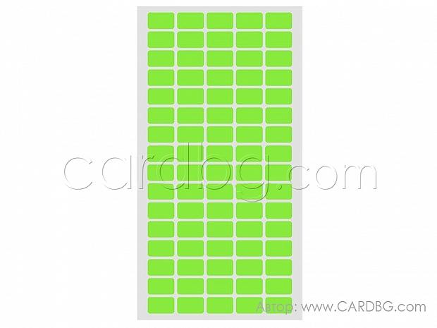 Етикети лепенка, стикери 12 х 22 мм на лист от 80 бр зелени