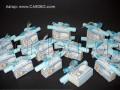 Покана свитък с кутия за бонбони в синьо за момченце № 4005 а