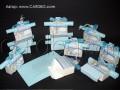 За момче в синьо -  кутия за бонбони и свитък с пожелание № 4005 а
