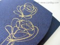 Стилна картичка в тъмно синьо и златно за всякакъв повод