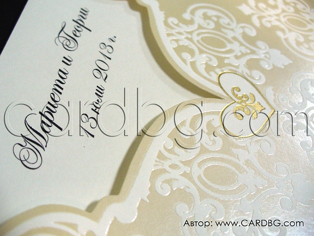 Квадратна сватбена покана № 32800