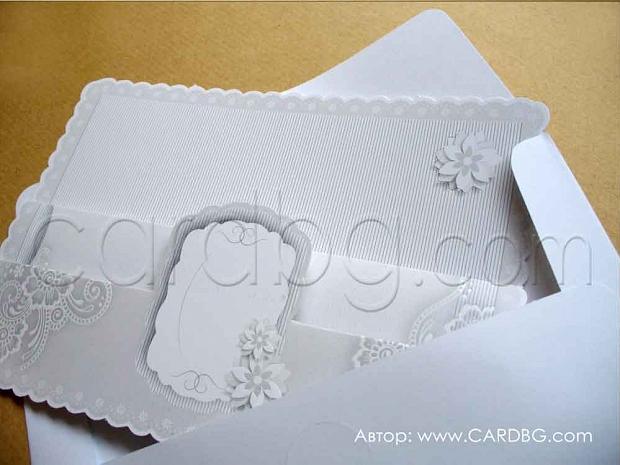 "Картички за сватба тип ""хармоника"" № 39240"