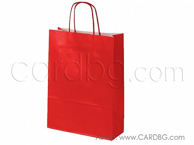 Хартиена торбичка червена 28х41х12 см 10 бр в пакет код 34-17