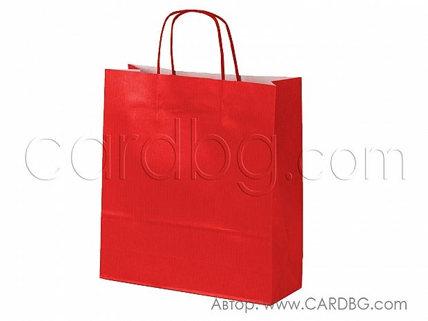 Червена стандартна торба голяма 33х40х12 см 10 броя код 34-192