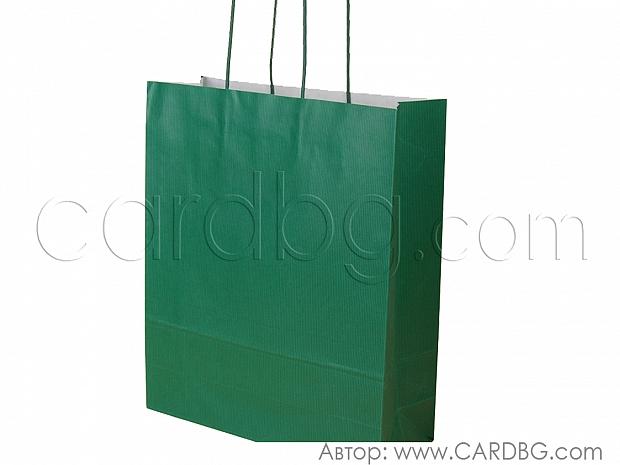 Зелена стандартна торба голяма 33х41х12 см 10 броя код 34-19