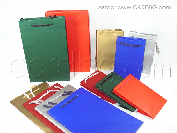 Малки торби различни цветове р-р 11х18 см
