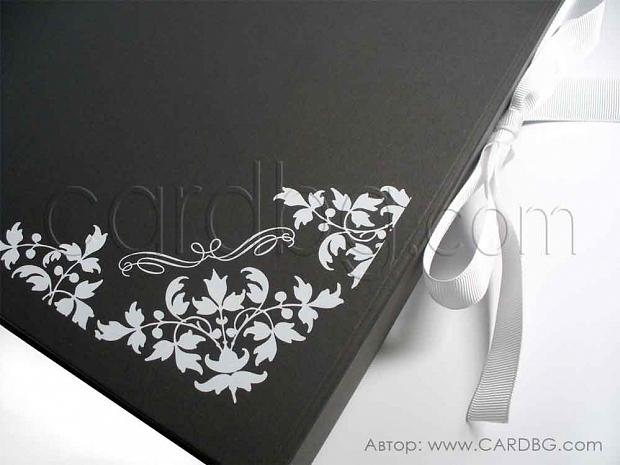 Черна твърда ниска кутия 31х21х5,5 см. код: HCB 02 s