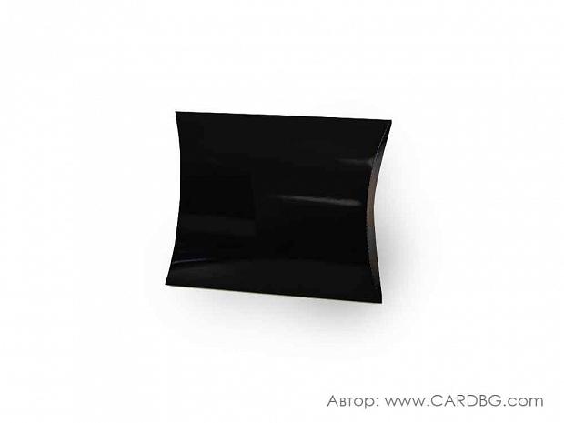 Кутия за подарък тип възглавница черна 23х20х5 см